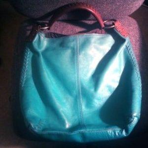 Lucky Brand Huge Roomy Leather Bucket Bag